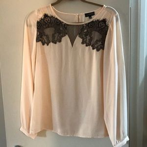 Limited lace front blouse